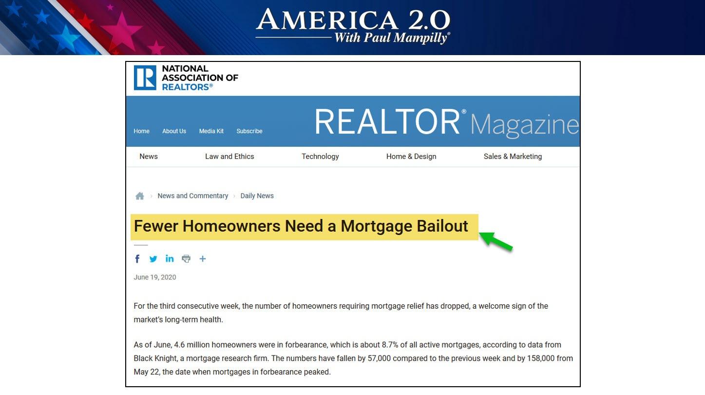 June 2020 Mortgage Bailouts America 2.0
