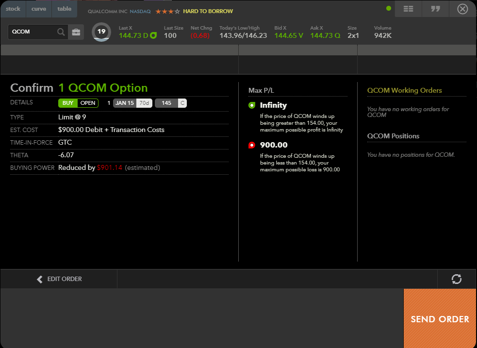 Image showing how a confirm-order page might look on a broker's platform.
