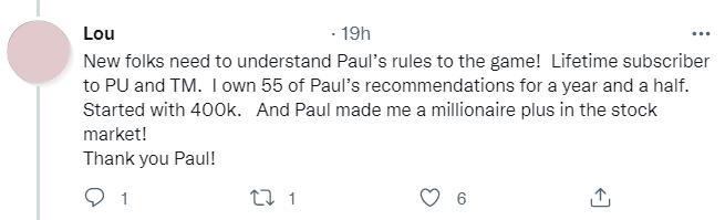 bold profits reader tweet